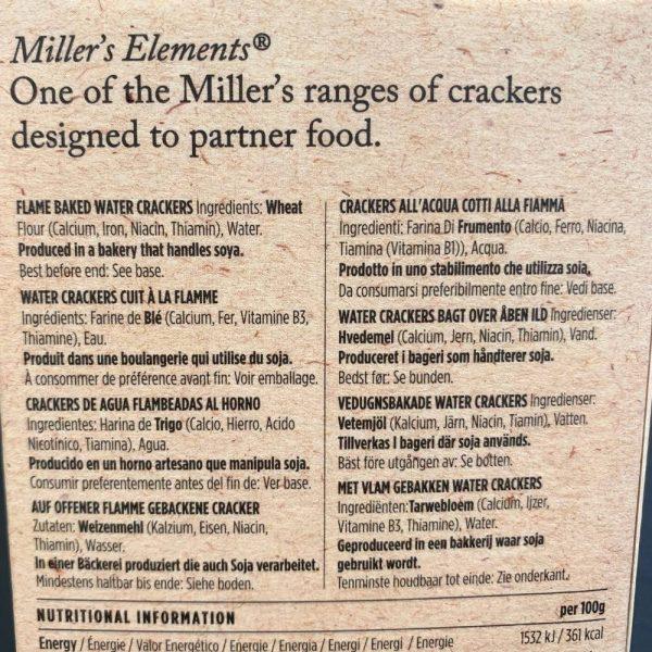 Millers Elements Water Crackers 2